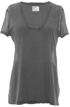 L'Agence For RON HERMAN Pinstripe Perfect Tee