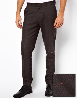 Asos Skinny Fit Smart Pants With Nep