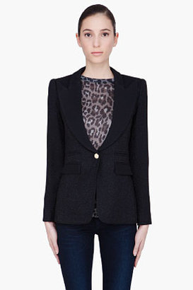 Smythe black lame Evening Blazer