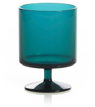 Crate & Barrel Stacking Acrylic Teal Wine Glass