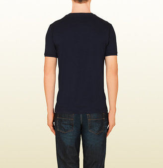 Gucci Cotton Jersey T-Shirt With Web Stripe