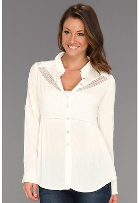 Free People Wild Wind Button Up (Ivory) - Apparel