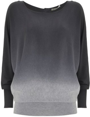 House of Fraser Mint Velvet Ombre Button Back Batwing Knit