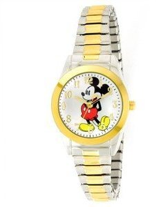 Disney Women's MCK579 Mickey Mouse Two-Tone Expansion Band Watch $29.99 thestylecure.com