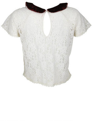 Delia's Lace Peter Pan Top