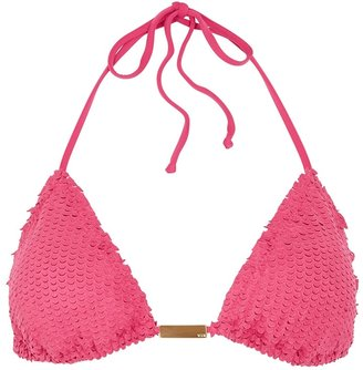 Vix Paula Hermanny V I X Paula Hermanny Watermelon Scales Halterneck Bikini Top