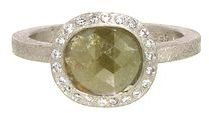 Todd Reed Oval Rose Cut Yellow Fancy Diamond Ring