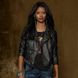 Denim & Supply Ralph Lauren Vegan-Leather Moto Jacket