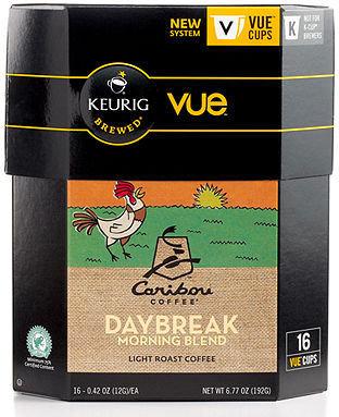 Keurig 9333-016 VueCup Portion Packs, 16 Count Caribou Daybreak Morning Blend