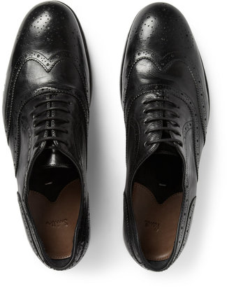 Paul Smith Torrance Washed-Leather Oxford Brogues