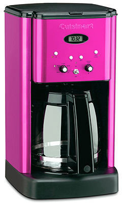 Cuisinart DCC-1200 Coffee Maker, 12 Cup Metallic Pink Brew Central