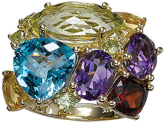 EFFY Multi-Colored Stone and Diamond Ring in 14 Kt. Yellow Gold, .23 ct. t.w.