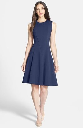 Rachel Roy Seamed Ponte Fit & Flare Dress