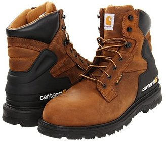 Carhartt 6 Soft Toe Waterproof Work Boot (Brown) Men's Work Lace-up Boots