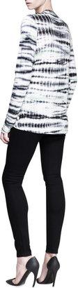 Proenza Schouler Long-Sleeve Tie-Dye T-Shirt