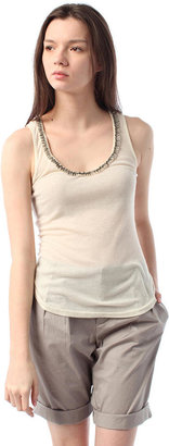 Urban Outfitters Lucca Couture Twisted Neck Ribbed Tank