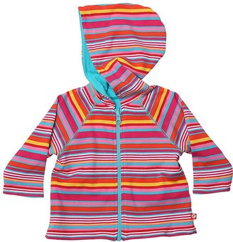 Zutano Multi Stripe Reversible Zip Hoodie