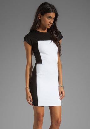 Torn By Ronny Kobo Zoara Dress in White/Black