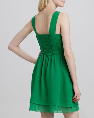 Marc by Marc Jacobs Crystal Textured-Silk Dress