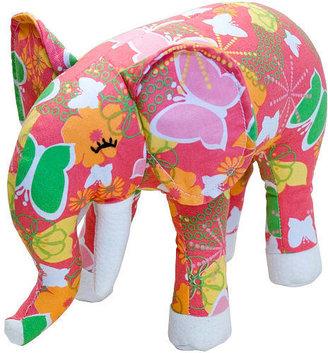 Ellis the Elephant Color Zoo Plush Animal - Orange Dream