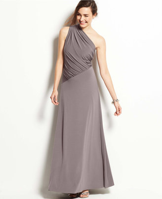 Ann Taylor One Shoulder Jersey Gown