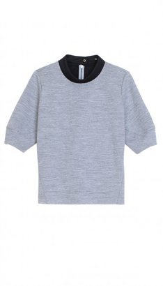 Tibi Bonded Milano Sweatshirt