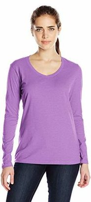 Champion Women's Jersey Long-Sleeve Tee Shirt $7.76 thestylecure.com
