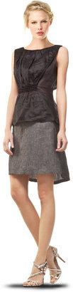 Max Studio Linen Twill Skirt