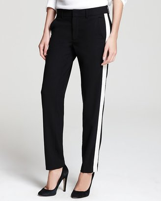 Vince Pants - Tropical Wool Contrast Strapping