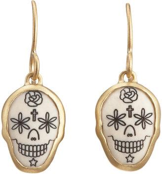 Me & Ro Me&Ro Scrimshaw Skull Earrings