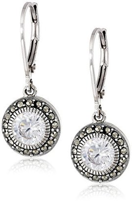 Judith Jack Sterling Silver, Cubic Zirconia, and Marcasite Drop Earrings $75 thestylecure.com