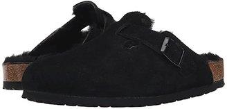 Birkenstock Boston Shearling (Port/Port Suede/Shearling) Clog Shoes