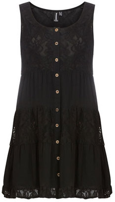 Dorothy Perkins Black button front dress