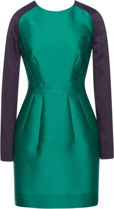Antonio Berardi Color-Blocked Silk Scuba Cocktail Dress