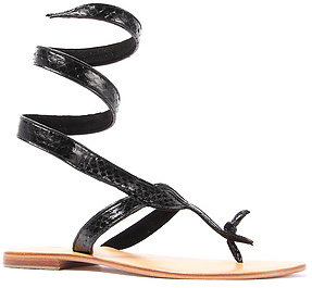 Cocobelle The Snake Ankle Wrap Sandal in Black