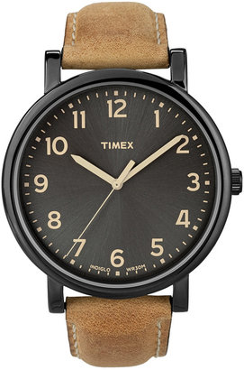 Timex Tan and Black Easy Reader