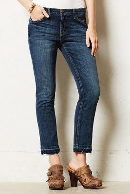 Current/Elliott Cropped Straight Jeans Loved 31 Denim