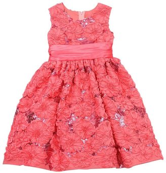 Rare Editions floral sequin soutache dress - girls 4-6x