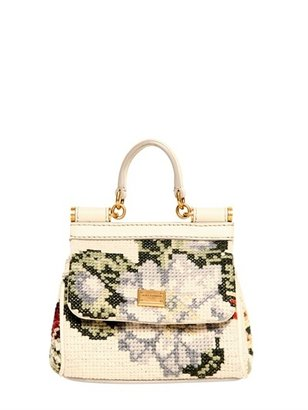 Dolce & Gabbana Mini Miss Sicily Stitched Shoulder Bag