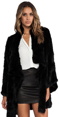 Elizabeth and James Kimono Elijah Rabbit Fur Coat