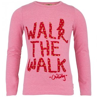 Oilily Pink Walk The Walk Tee