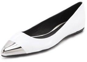 Messeca new york Jacqueline Metal Cap Toe Flats