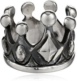 King Baby Studio Sterling Silver Crown Ring Size 7