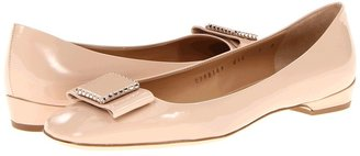 Salvatore Ferragamo Selia (New Bisque Patent) - Footwear