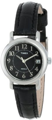 "Timex Women's T2N335 ""Elevated Classics"" Black Leather Strap Watch $53.95 thestylecure.com"