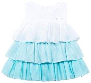 Mayoral Aqua Tiered Tulle Dress