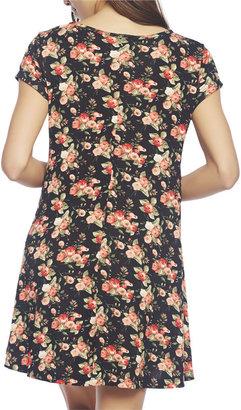 Wet Seal Floral Short Sleeve Dress