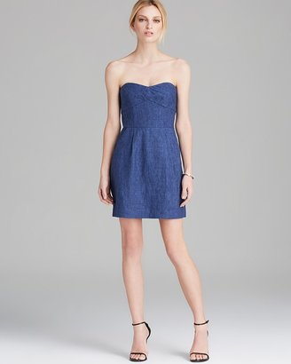 Milly Dress - Washed Chambray Linen Strapless