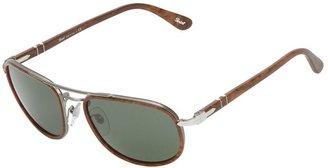 Persol flat top rectangular framed sunglasses