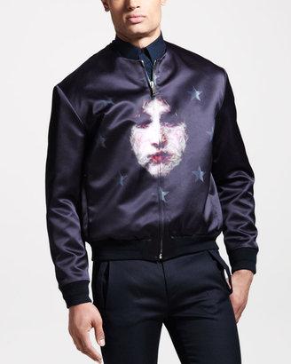 Givenchy Face-Print Bomber Jacket